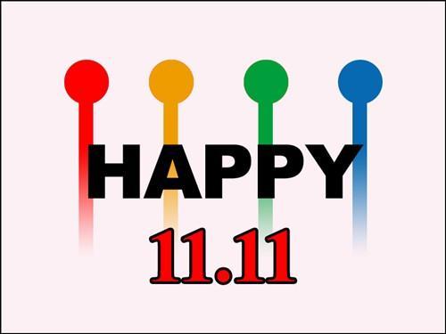 11月11日は、1が4つ並ぶことにち...